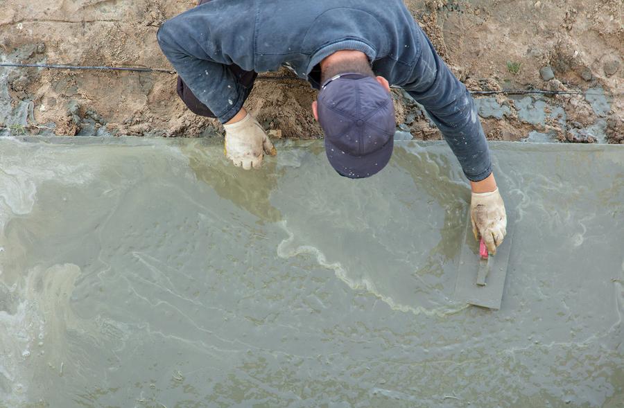 flattening the concrete path