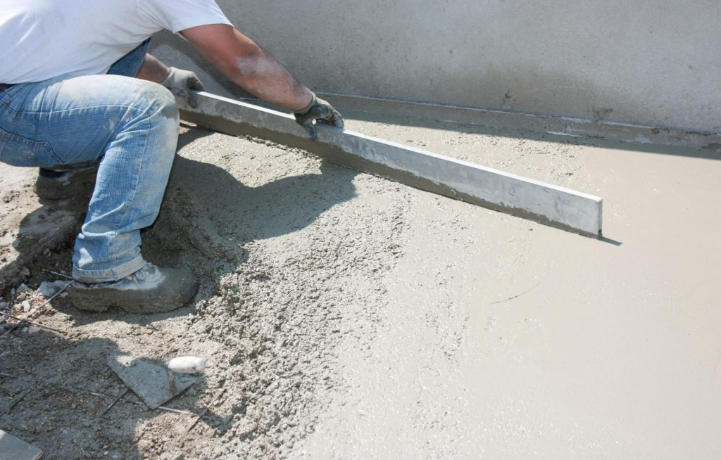 paving out the concrete