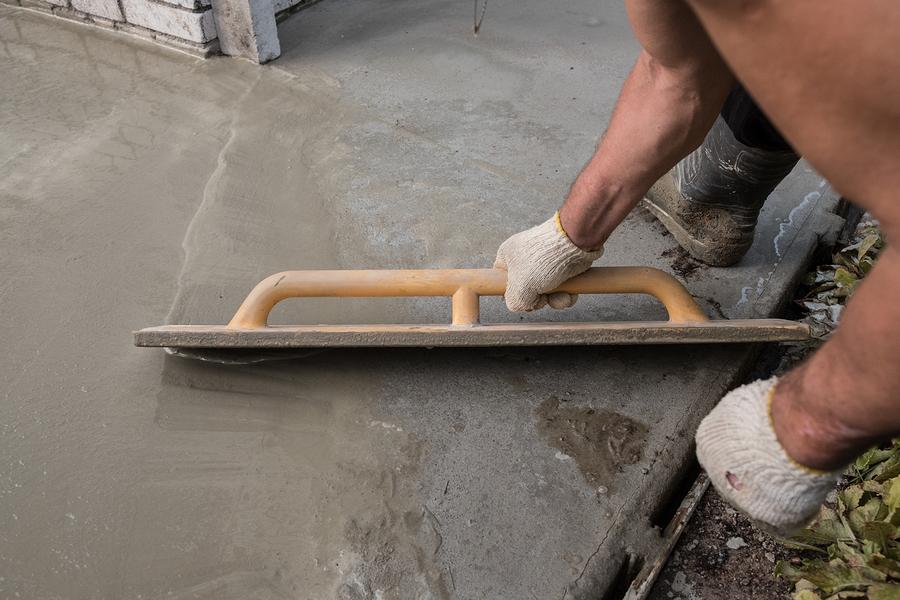 repairing the cement floor