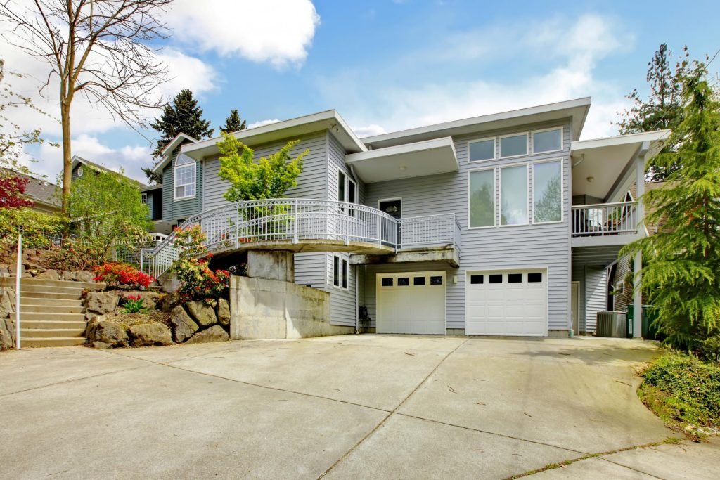 house with concrete drive way
